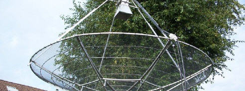 HAM Radio station with SPID BIG-RAS and 3 meter dish